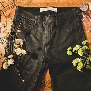 Gap Coated Black Inner Cozy Jeans